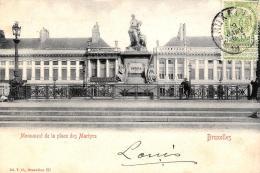 [DC10055] CPA - BELGIO - BRUXELLES - MONUMENT DE LA PLACE DES MARTYRS - Viaggiata - Old Postcard - Belgio