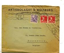 Suède Pli De Stockholm Pour La Belgique 1945 - Suède