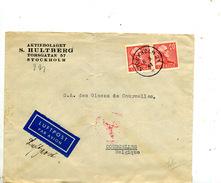 Suède Pli De Stockholm Pour La Belgique 1941 Censuré