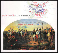 Rep. Ceca / Czech Rep. 2014: Foglietto Battaglia Di Lipsia / Battle Of Leipzig S/S ** - Militaria
