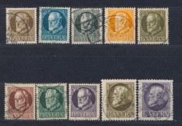Beieren/Bavaria/Baviere/Bayern 1914/1916 Mi: 94,97-105 I/II Yt: 94,97-105 (Gebr/used/obl/o)(2410) - Bavière
