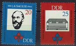DDR 1966 - MiNr 1165-1166 - Jan Arnost Smoler - Sorben / Sorbischer Sprache - Ungebraucht