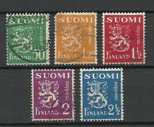 FINLAND FINNLAND 1932 Michel 176 - 180 O