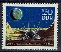 DDR 1966 - MiNr 1168 - Erste Weiche Mondlandung Durch Luna 9. - Raumfahrt