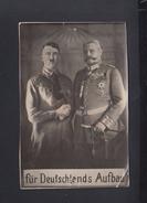 Dt. Reich AK Hitler Hindenburg Für Deutschlands Aufbau - Personaggi Storici