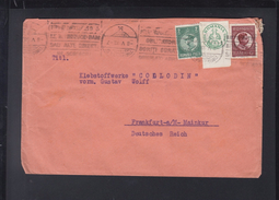 Romania Cover 1933 To Frankfurt Cartea Romaneasca - 1918-1948 Ferdinand, Carol II. & Mihai I.