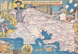 Lot De 20  Cpa-div-cartes Geographiques-departements-edi Blondel La Rougery - Landkaarten
