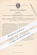 Original Patent - Rennen , Krefeld , 1884 , Ermittlung U. Darstellung Von Schienenprofil | Schienen , Eisenbahn !!! - Manuskripte