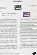 France-1970-document De La Poste-Aérotrain (n°8) - Documents De La Poste