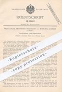 Original Patent - Franz Suda , Bernhard Hellmann , Bohumil Ludikar / Prag 1892 , Ventilationsofen , Regulierofen | Ofen - Manuskripte