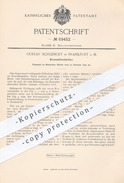 Original Patent - Gustav Schlesicky , Frankfurt / Main , 1892 , Krawattenhalter   Krawatte , Krawatten , Schlips , Mode - Manuskripte