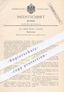 Original Patent - Emilie Muhs , Berlin , 1892 , Monatsverband Für Frauen   Verband , Binde , Hygiene , Medizin !!! - Manuskripte