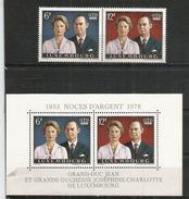 Grand Duc Jean & Grande Duchesse. Bloc-feuillet + Série Neufs **