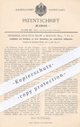 Original Patent - Frederick Augustus Shaw , Boston , USA , 1892 , Lichtbilder Aus Natur - Kalkgestein   Marmor , Gips !! - Manuskripte
