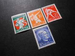 CH ZNr.61-64** - Pro Juventute  Sportbilder/E.Huber  1932 - Z CHF 13.00