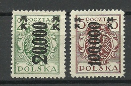 POLEN Poland 1923 Michel 189 - 190 * - Unused Stamps