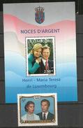 Grand Duc Henri & Maria Teresa. Bloc-feuillet + Serie Neufs **