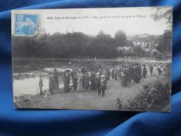 Bain De Bretagne  Une Partie De Pêche Au Bord De L'étang - Animée - N° 4858 - Circulée - R144 - Frankreich