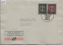 1945 Tag Der Schweizer Spende Basel W19 - W20/443-444 3.III. - Blocs & Feuillets