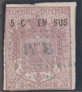 France Fiscaux – TIMBRE IMPERIAL - DIMENSION 20c - 5c En Sus - Manteau Impérial - Violet Pâle (Lot Fiscal 37) - Revenue Stamps