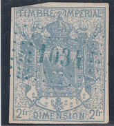 France Fiscaux – TIMBRE IMPERIAL - DIMENSION 2Fr - Manteau Impérial (Lot Fiscal 39) - Revenue Stamps