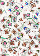 Amerika   Briefmarken Auf Papier    1000 Gramm   Gemischt      Gestempelt  Kiloware - Lots & Kiloware (min. 1000 Stück)