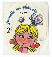 Vignette - Jeunesse Au Plein Air 1979 - 2F - Dessin Hervé Morvan - Stickers