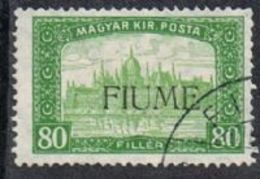 Fiume SG15 1918 Definitive 80f Fine Used [12/12585/7D] - 8. WW I Occupation