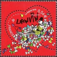 France Fêtes N° 4431,** Saint Valentin 2010. Coeur Lanvin - Fleur Soleil Femme - Feste