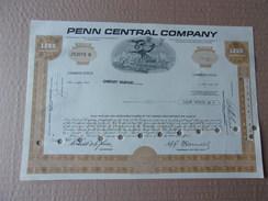 PENN CENTRAL COMPANY - Shareholdings
