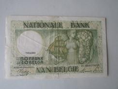 Nationale Bank Van Belgie : 50 FRANK Of 10 BELGA 1944 - [ 3] Deutsche Besatzung In Belgien