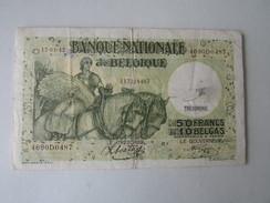 Nationale Bank Van Belgie : 50 FRANK Of 10 BELGA 1942 - [ 3] Occupazioni Tedesche Del Belgio