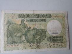 Nationale Bank Van Belgie : 50 FRANK Of 10 BELGA 1938 - [ 3] Deutsche Besatzung In Belgien