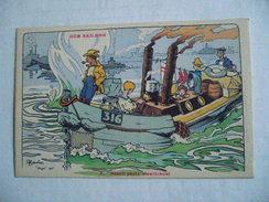 Ancienne Carte Postale : : Illustrateur H. GERVESE   OUR SAILORS :  2 - BEACH PARTY STEAM - BOAT - Otros