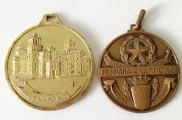 Lot Two Medals - Comune Di Ferrara - Altri