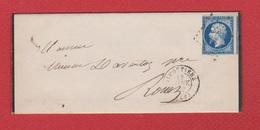 Lettre  /pour  Rouen / 13 Janvier 1857 - Postmark Collection (Covers)