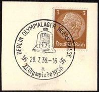 GERMANY BERLIN OLYMPIALAGER HEERSTRASSE 28/07/1936 - OLYMPIC GAMES BERLIN 1936 - FRAGMENT