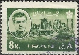 1962  Shah And Palace Of Darius, Persepolis -   8r. - Green FU - Iran