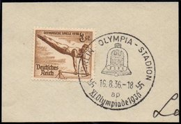 GERMANY BERLIN OLYMPIA-STADION 16/08/1936 - OLYMPIC GAMES BERLIN 1936 - FRAGMENT - GYMNASTICS STAMP