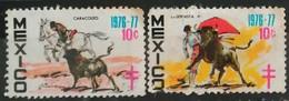 MÉXICO 1976-1977. Antituberculosis - Cruz De Lorena. USADO - USED - México