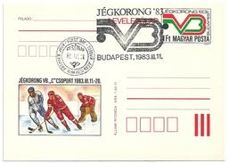 5177 Hungary FDC With SPM Postcard Winter Sport Ice Hockey