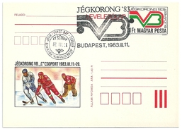 5177 Hungary FDC With SPM Postcard Winter Sport Ice Hockey - Hockey (su Ghiaccio)