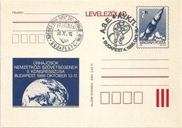 5180 Hungary FDC With SPM Postcard Transport Space Walk Apollo - Storia Postale