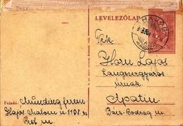 Hungary Card Hajos 1943 ... AH806 - Brieven En Documenten