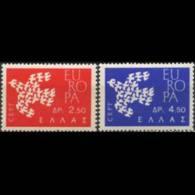 GREECE 1961 - Scott# 718-9 Europa Set Of 2 MNH
