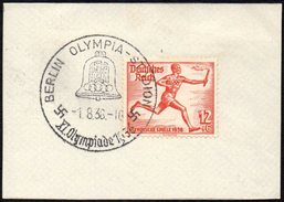 GERMANY BERLIN OLYMPIA-STADION 1/08/1936 - OLYMPIC GAMES BERLIN 1936 - FRAGMENT - ATHLETICS STAMP