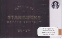 Thailand Starbucks Card Seattle 2015 - 6110 - Gift Cards