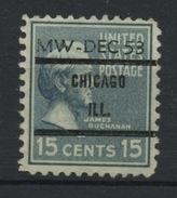USA : -  PREOBLITERE - N° Yvert 385 SURCH CHICAGO ILL. (*) - Vorausentwertungen