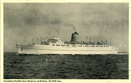 SHIPPING - CANADIAN PACIFIC EMPRESS OF BRITAIN - Steamers