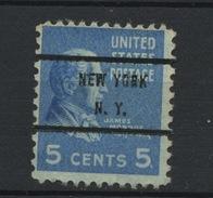 USA : -  PREOBLITERE - N° Yvert 375 SURCH NEW YORK N.Y.   (*) - Vorausentwertungen